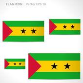 Sao Tome and Principe flag template — Stock Vector