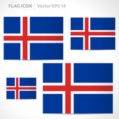 Iceland flag template — Vettoriale Stock
