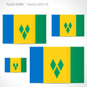 Saint Vincent and the Grenadines flag template — Stock Vector