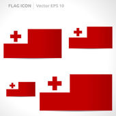 Tonga flag template — Stock Vector