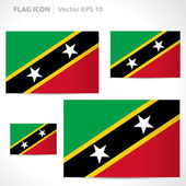 Saint Kitts and Nevis flag template — Stock Vector