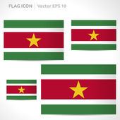 Suriname flag template — Stock Vector