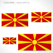Macedonia flag template — Stock Vector