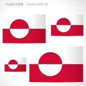 Greenland flag template — Stock Vector