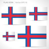 Faroe Islands flag template — Stock Vector