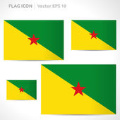 French Guiana flag template — Stock Vector