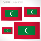 Maldives flag template — Stock Vector