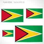 Guyana flag template — Stock Vector