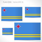 Aruba bayrağı şablonu — Stok Vektör