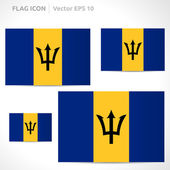 Barbados flag template — Stock Vector