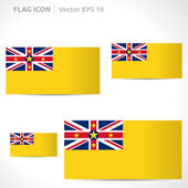 Niue flag template — Stock Vector