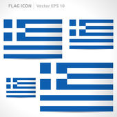 Greece flag template — Stock Vector