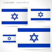 Israel flag template — Vector de stock