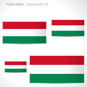 Hungary flag template — Stock Vector