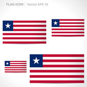 Liberia flag template — Stock Vector