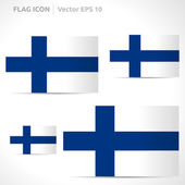 Finland flag template — Stock Vector