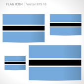Botswana flag template — Stock Vector