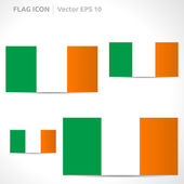 Ireland flag template — Stock Vector