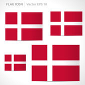 Denmark flag template — ストックベクタ
