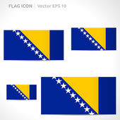 Bosnia and Herzegovina flag template — Stock Vector