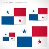 Panama flag template — Stock Vector