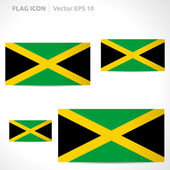 Jamaica flag template — Stock Vector