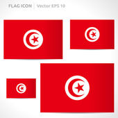 Tunisia flag template — Stock Vector