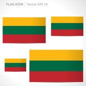 Lithuania flag template — Stock Vector