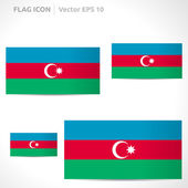 Azerbaijan flag template — Stock Vector
