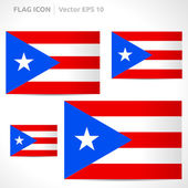 Puerto Rico flag template — Stock Vector