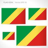 Republic of the Congo flag template — Stock Vector