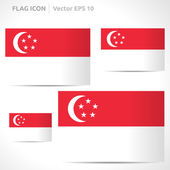 Singapore flag template — Stock Vector