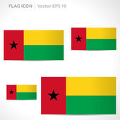 Guinea-Bissau flag template — Stock Vector