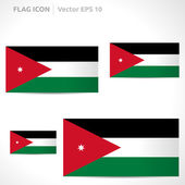 Jordan flag template — Stock Vector