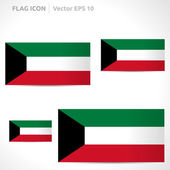 Kuwait flag template — Stock Vector