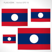 Laos flag template — Stock Vector