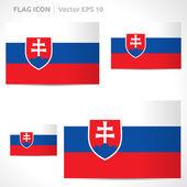 Slovakia flag template — Stock Vector