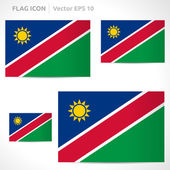 Namibia flag template — Stock Vector