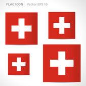 Switzerland flag template — Stock Vector