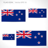 New Zealand flag template — Stock Vector