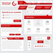 ウェブサイトの要素 — ストックベクタ