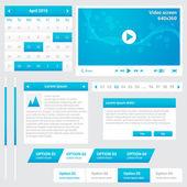 элементы веб-сайта — Cтоковый вектор