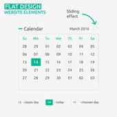 Calendar Flat design — Stock Vector