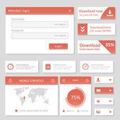 Flat UI design website elements — Stock Vector