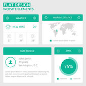 Flat UI design website elements — Stock Vector