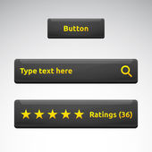 Button search bar rating box with stars — Vettoriale Stock
