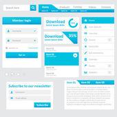 Website elements — Stock Vector