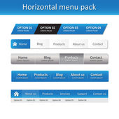 Horizontal menu pack — Vector de stock