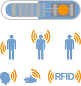 Implantable RFID tag Icon — Stock Vector
