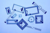 RFID tags and chips — Stock Photo
